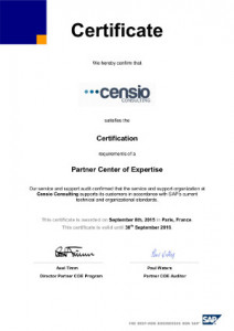 certification SAP PCoE